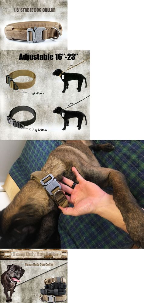 Collars 63057 Heavy Duty Tactical Training Dog Collar With Handle