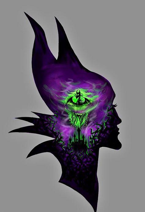 Maleficent 💜💚🖤