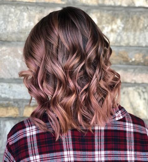 Rose Brown Hair Trend: 23 Magical Rose Brown Hair Colors to Try - Glowsly