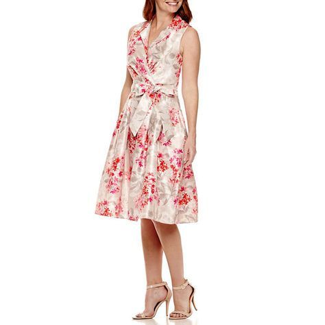 b006124f9032 Jessica Howard Sleeveless Notch-Collar Faux-Wrap Dress - Petite - JCPenney