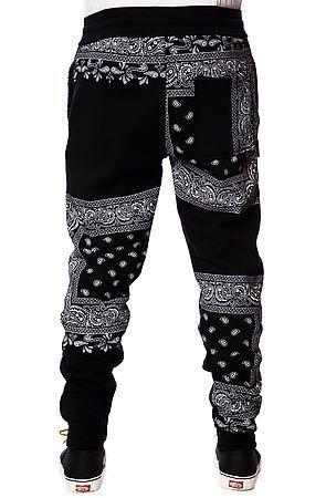 LATHC Pants Bandana Squares Sweatpants Joggers in Black $68