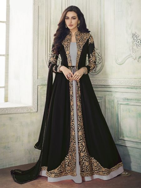Indian Ethnic Anarkali Salwar Kameez Designer Suit Bollywood Party wear Dress LF