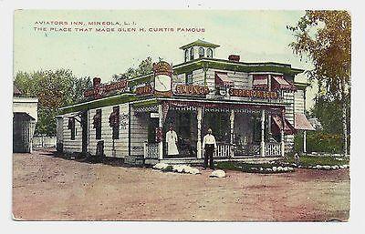Mineola Long Island Ny Real Photo The Aviation Inn Postcard