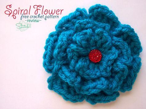 Spiral Flower – Free Crochet Pattern – Review