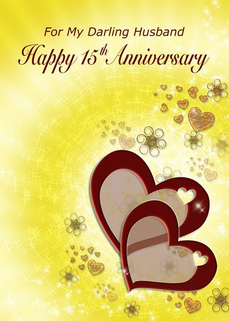 Husband 15th Anniversary Twin Hearts Card Ad Sponsored Anniversary Husband 9th Wedding Anniversary 14th Wedding Anniversary Happy Anniversary Cards