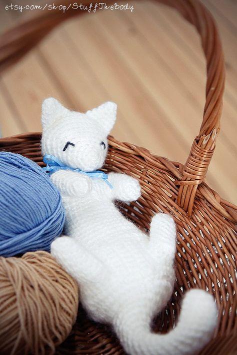 Cat Crochet Pattern Cat Amigurumi Pattern Kitten by StuffTheBody