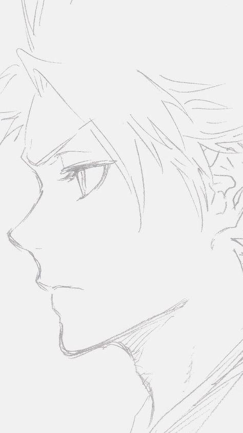 Bleach+ Anime Drawings Sketches, Cool Art Drawings, Pencil Art Drawings, Anime Sketch, Easy Drawings, Bleach Drawing, Guy Drawing, Manga Drawing, Bleach Fanart