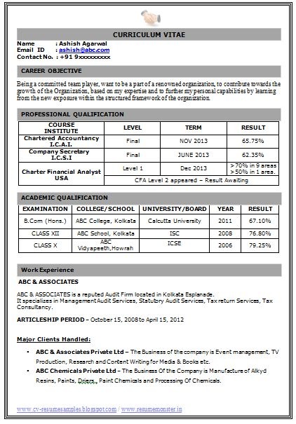Sample Template Example Of Beautiful Excellent Professional Curriculum Vitae Resume Cv Format With Career Objective Job Profile And Work Resume Format Download Best Resume Format Latest Resume Format