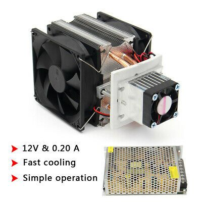 Dc 12v Diy Semiconductor Refrigeration Thermoelectric Air Cooler W Power Supply Semiconductor Air Cooler Heat Pump System