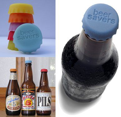 Beer Savers Rubber Bottle Caps--perfect for tailgates!!