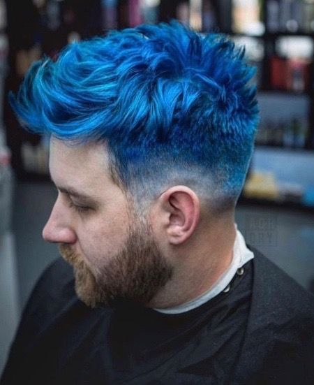 Pin By Kelpy G On Hair Dyes With Images Short Blue Hair Men