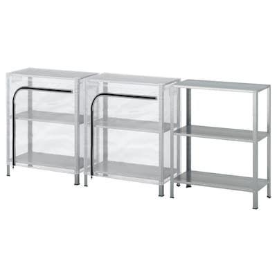 Applaro Bench W Wall Panel Shelf Outdoor Brown Stained Ikea Ikea Shelving Unit Shelving Unit Shelving