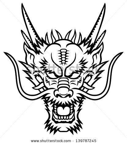 Chinese Dragon Faces Coloring Pages Dragon Head Tattoo Dragon Head Drawing Dragon Face