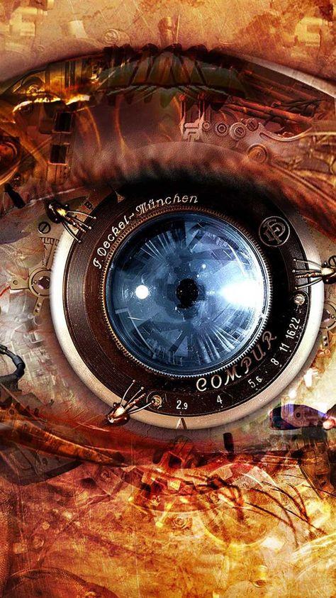 mechanical eye steampunk iphone wallpaper callzingo com