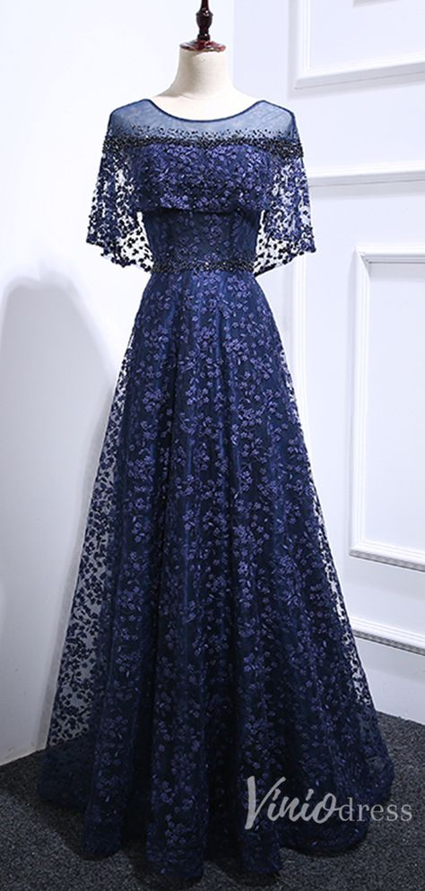 Navy blue lace mother of the bride dresses. #weddingparty #bridesmaids #bridesmaiddress #weddings #weddinginspiration #motherofthebridedresses #weddinginspiration #wedding