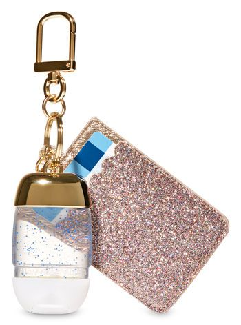 Glittery Gold Credit Card Pocketbac Holder Bath And Body Works