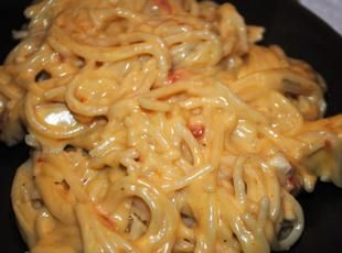 Velveeta chicken spaghetti | cook chicken in chicken broth and save 1 cup of broth to add to the prepared spaghetti in 9 x 13 inch pan