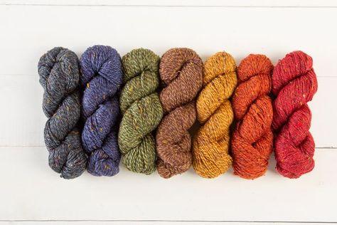 Hand spun merino wool silk DK weight yarn Heliotrope