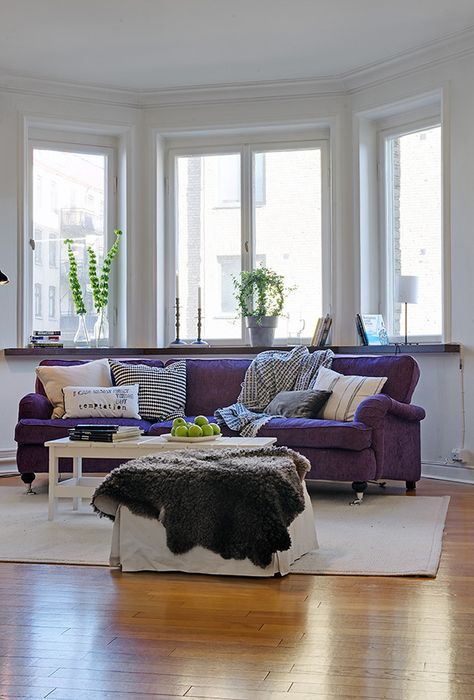 How To Match A Purple Sofa To Your Living Room Décor | Purple Sofa, Living  Rooms And Purple Part 39
