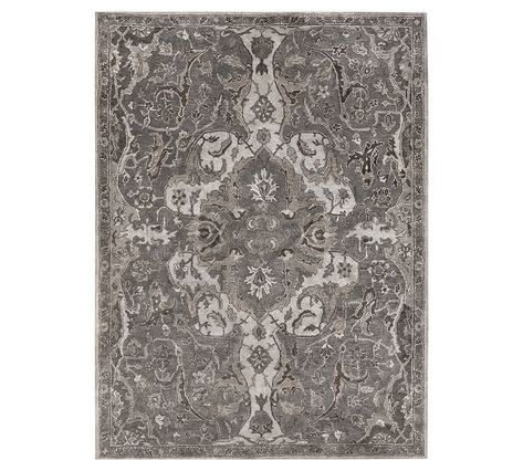 Pottery Barn Rugs 9x12.Nolan Persian Rug 9x12 Gray At Pottery Barn Products