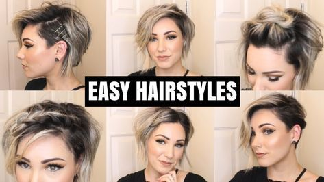 Easy Hairstyles For Short Hair Chloe Brown Youtube Short Hair Styles Easy Easy Hairstyles Short Hair Tutorial