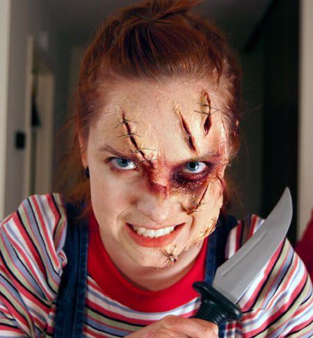 Chucky face paint! | Face paint | Pinterest | Chucky and Halloween ...