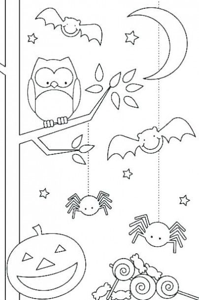 Halloween Coloring Sheets For Toddlers Free Printable Pages