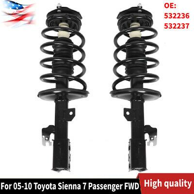 Ad Ebay Front Strut Coil Spring Pair For 05 10 Toyota Sienna 7 Passenger Fwd 532236 Us In 2020 Cars Trucks Toyota Sienna Fwd