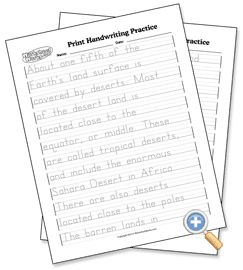 FREE Customizable Print and Cursive Handwriting Practice - WorksheetWorks.com
