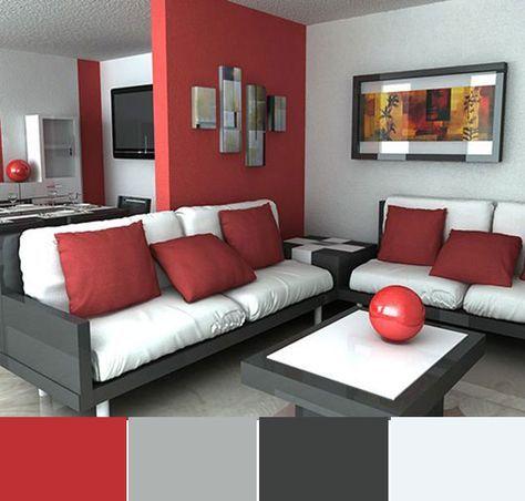 40 combinaciones de colores para pintar un salón | Pintar la ...