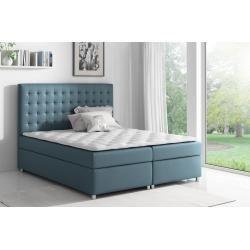 Lonni Boxspringbett Inklusive Led Beleuchtung Material Kunstleder 180 X 200 Cm Mobel Einsmobel Ei Blaue Mobel Boxspringbett Und Bett