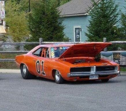 Modern dodge charger with blower