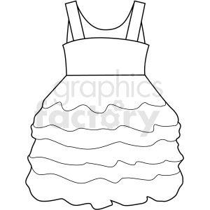 Black White Girl Dress Vector Clipart Girls White Dress Black And White Girl White Girls
