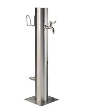 Wassersäule aus Edelstahl Schlauchhalter für Energiesäule und Wasserzapfstelle