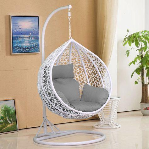 Rattan Hanging Swing Chair W Cushion