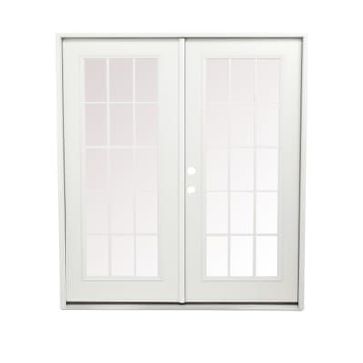 Steves Sons 72 In X 80 In Retrofit Prehung Right Hand Inswing White Primed Steel Patio Door Stpfl Pr 72 4irh The Home Depot Patio Doors Steel Patio Doors Vinyl Sliding Patio Door