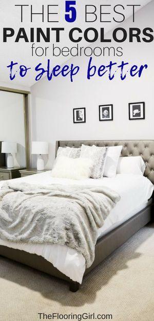 The 5 Best Paint Colors For Bedrooms | Bedroom paint colors ...