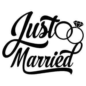 Just Married Svg Png Jpg Cricut Silhouette Digital File Wedding Rings Bride Groom In 2021 Just Married Cricut Silhouette