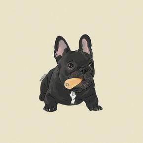 French Bulldog Art Bulldogfrances French Bulldog Drawing French Bulldog French Bulldog Wallpaper