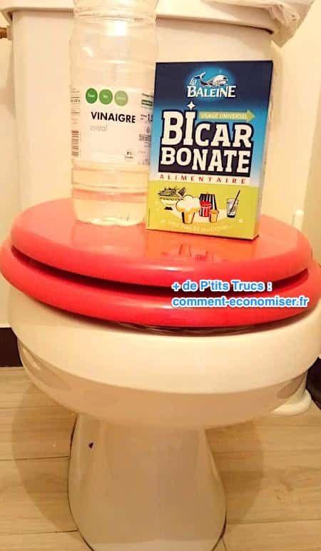enlever tartre toilettes