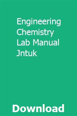 Engineering Chemistry Lab Manual Jntuk | thaenesdelsga