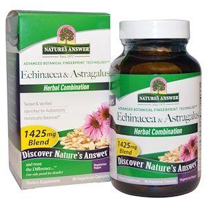 Nature S Answer Echinacea Astragalus 1425 Mg 90 Vegetarian Capsules Iherb Com Veggie Caps Herbalism Vegetarian