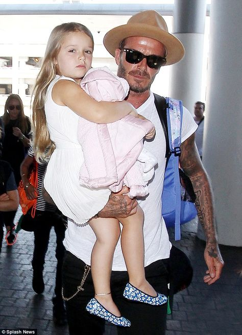 Daddy's little girl: David has been vocal about how raising a little girl is a different experience to his sons
