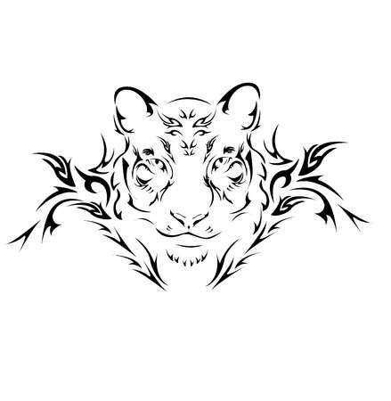 Stock Vector Tiger Tattoo Design Tribal Tiger Tattoo Tribal Tiger