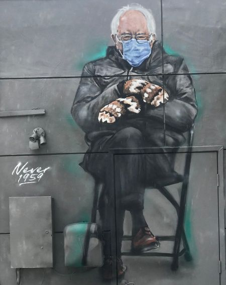 Sanders Meme Time To Take The Mittens Off Laura Flanders A œif You Like The Bernie Meme Youa Re Going To Love Healthcar In 2021 Memes Street Art Faith In Humanity