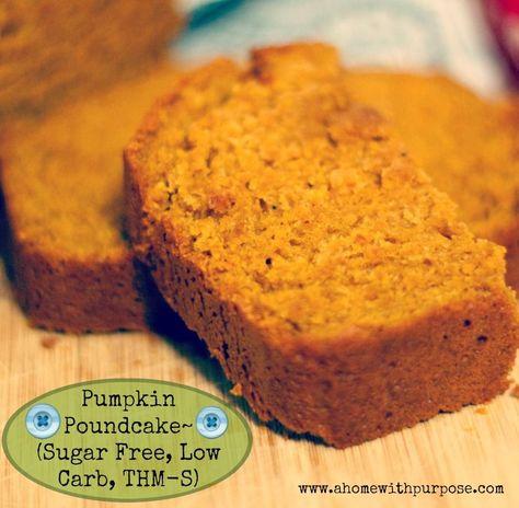 Pumpkin Poundcake~(Sugar free, low carb, THM S) For more low glycemic recipes, visit me at www.ahomewithpurpose.com