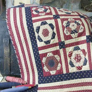 Free Patriotic Quilting Pattern: Patriot's Home