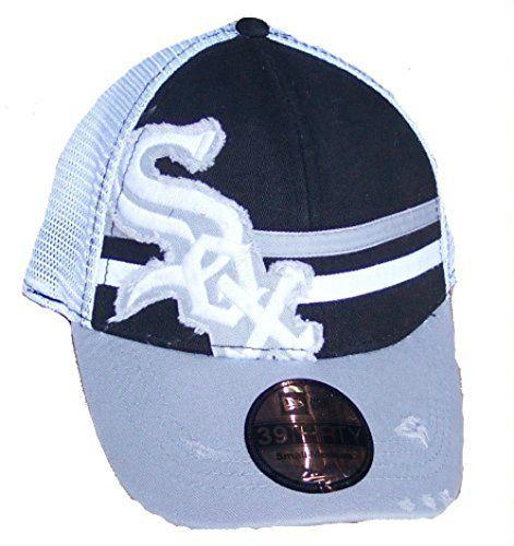 Best Fits 7-7 1//4 Medium Mesh Back Flex Fit Hat Cap Chicago White Sox Small