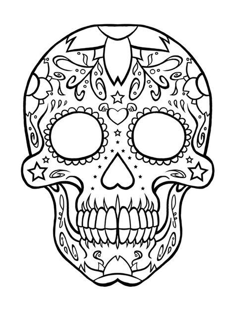 Candy Skull Tattoo Paginas Para Colorir Arte Calavera E Caveira