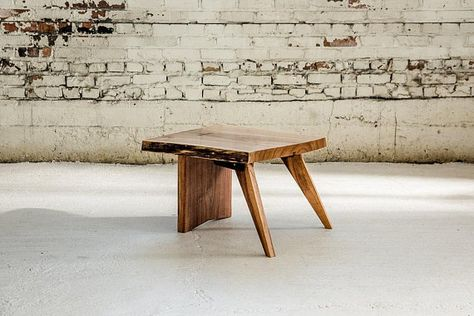 Live Edge Side Table; Live Edge Furniture In Black Or White Walnut; Modern  Rustic Side Table; Handmade With Care In Minneapolis, MN By Fjelsted Nord.